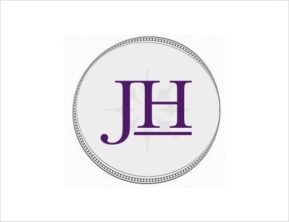 Two Letters Wedding Sticker Template