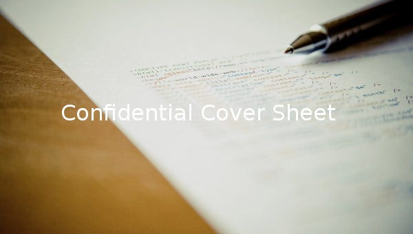 confidential cover sheet1