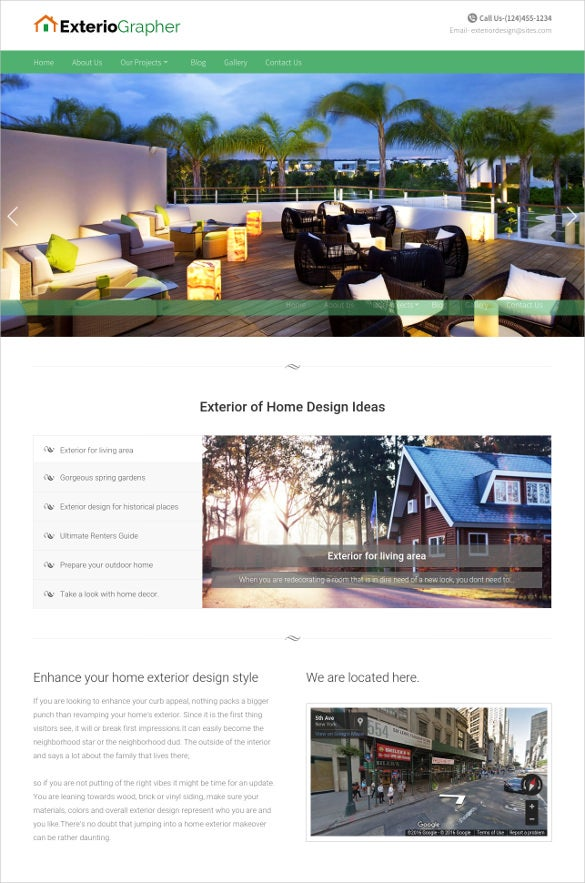 41 construction website themes templates free for Exterior design website templates