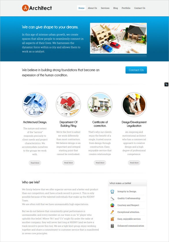 arechitecture construction website template