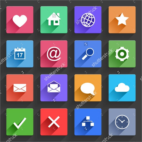colorful web icons bundle