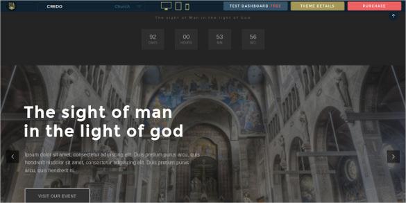 church event website theme