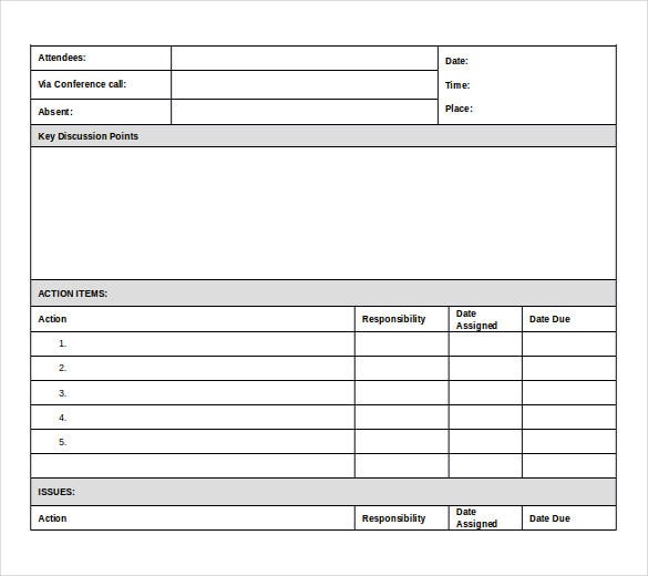 ms word meeting itinerary template free download