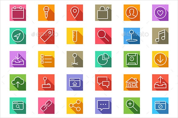 colorful background web icons download