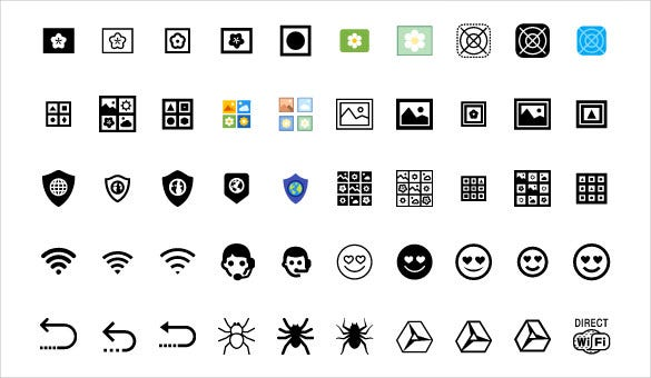 download dark coloured web icons