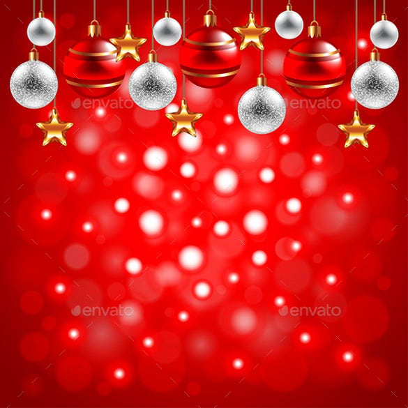 christmas balls on red background free download