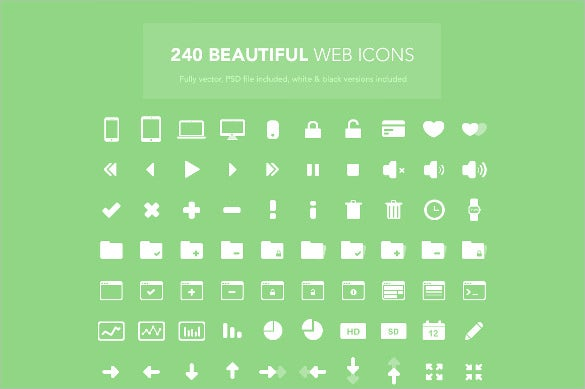 240 beautiful web icons download