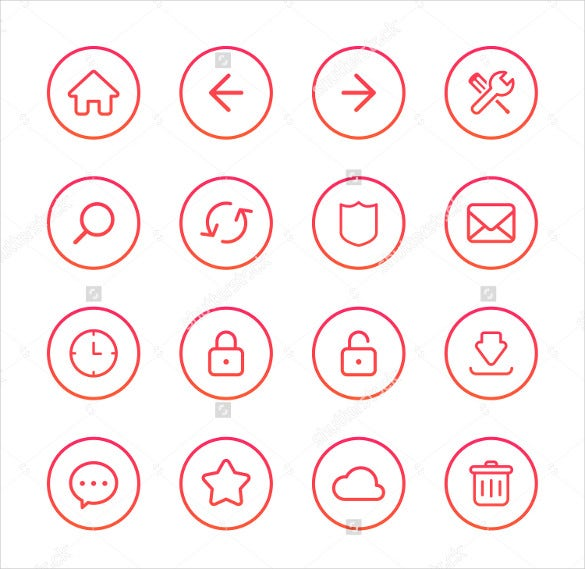 colorful flat web icons download