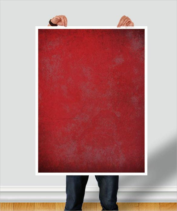man holding poster moke up download