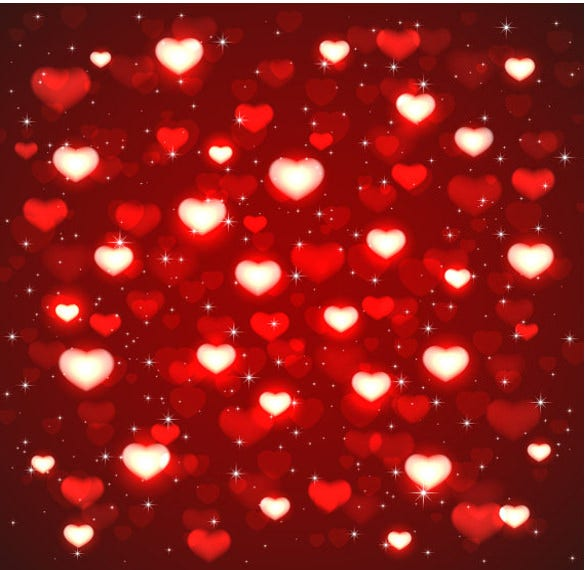red heart shape sequin background download