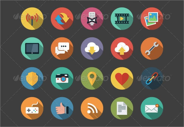 download flat web icons