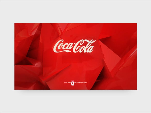 coca cola with red background download