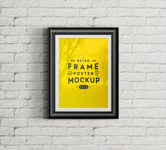 psd poster frame mockup download