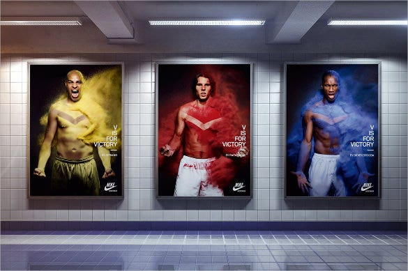 posters in the subway mock up set download