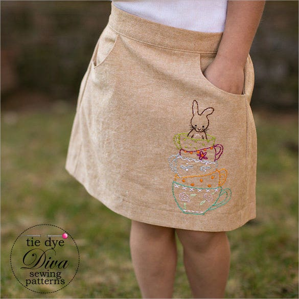 great girls skirt pattern download