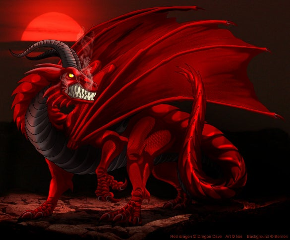 red dragon with red background download