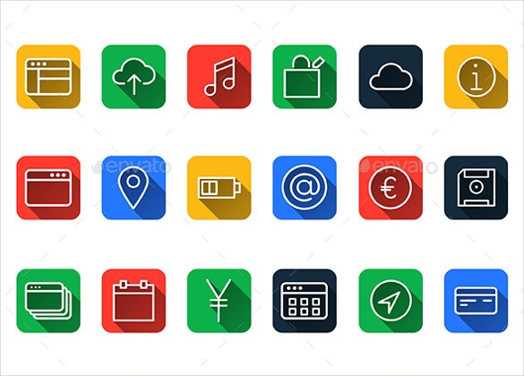 flat web icons bundle download
