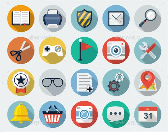 colorful flat icons download