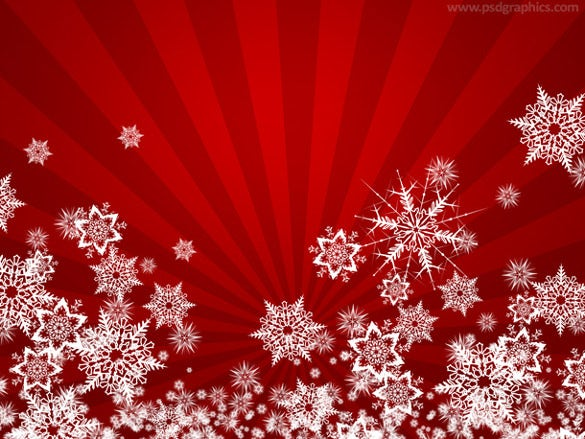 red winter background free download