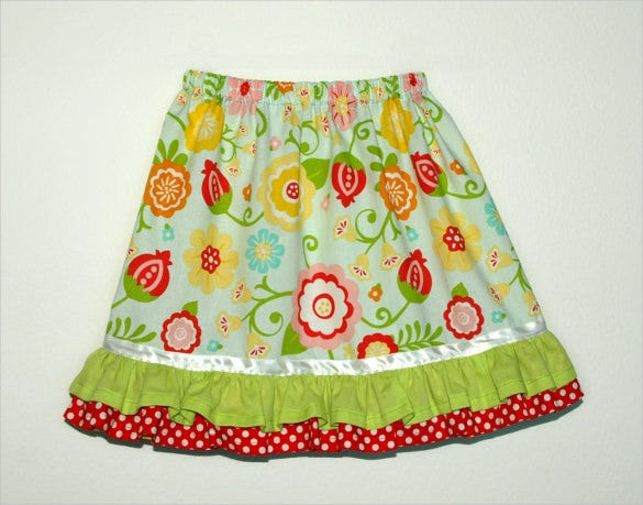 girls ruffle skirt pattern download