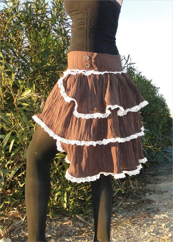 steampunk bustle skirt pattern download