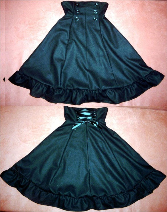 egl high waist skirt pattern download
