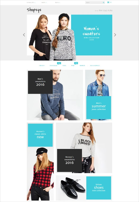 trendy clothes html5 prestashop theme
