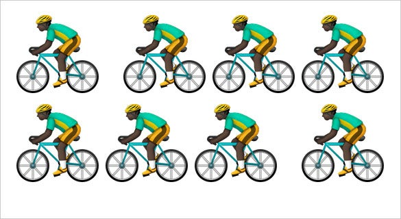 bicyclist emoji modifier fitzpatrick type for iphone