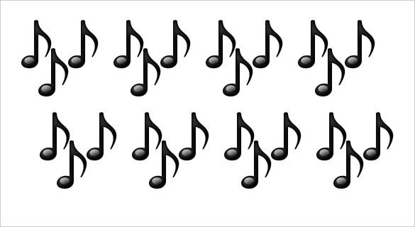 multiple musical notes emoji for iphone download