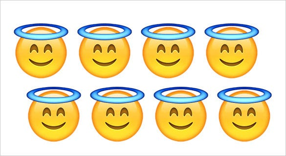 smiling face with halo angel emoji for apple phone