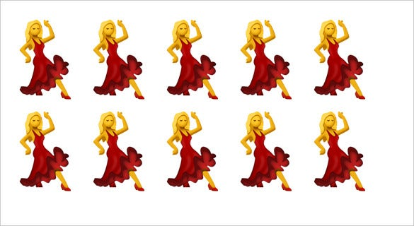 dancer red dress woman emoji for iphone apple