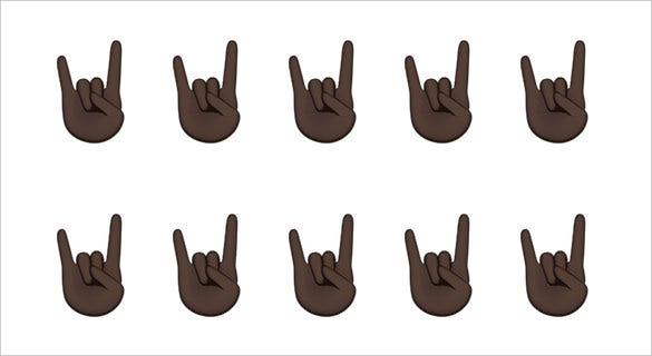 sign of the horns emoji apple download