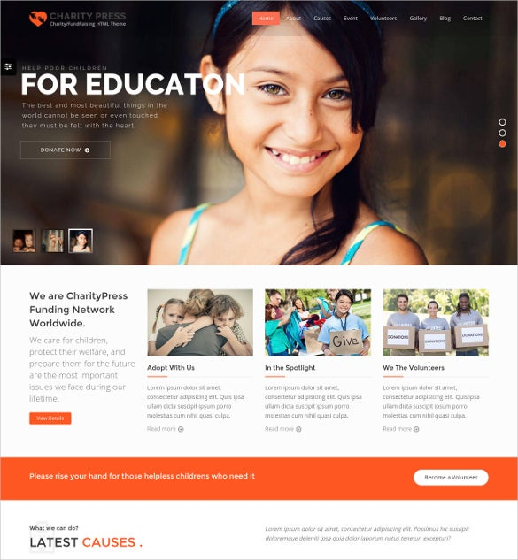 crowdfunding charity html5 template