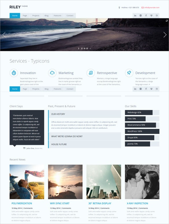multipurpose business html5 template