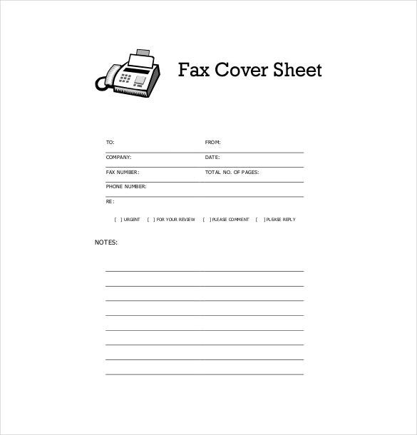 Simple Fax Cover Sheet Free Download