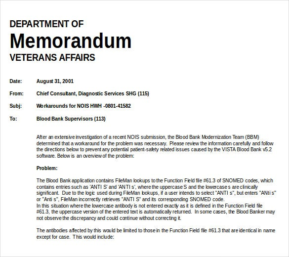 Free Memo Template MS Word Document Download  Memo Format On Word
