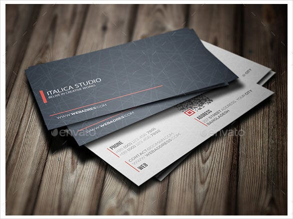 professional business card design psd download