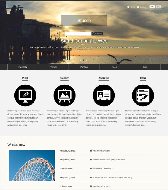 free style business concrete5 theme