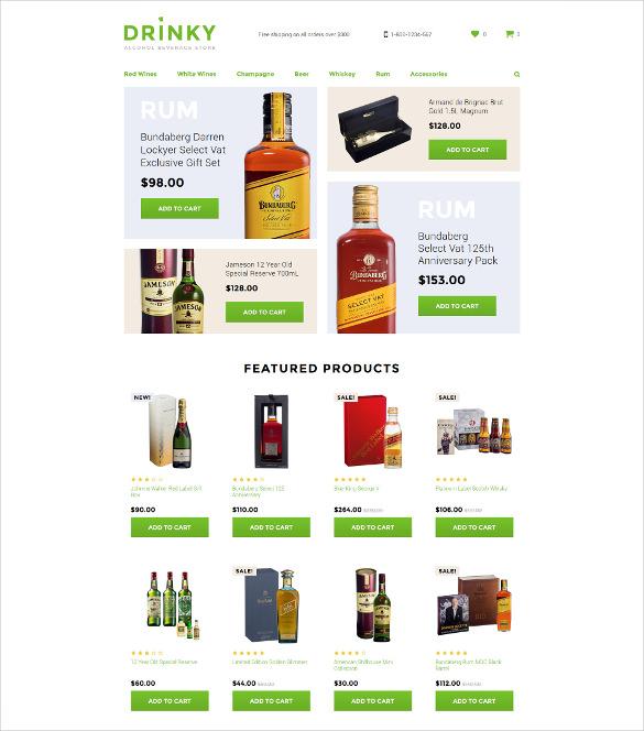drink opencart blog template