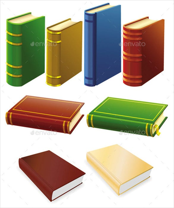 old book icon set download