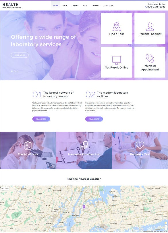 health diagnostic laboratory joomla blog template