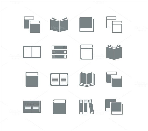 simple black white book icon download