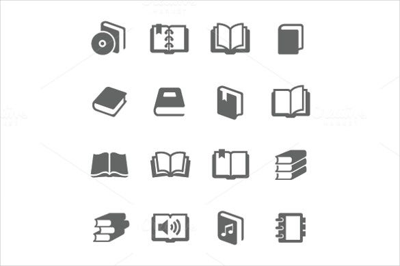 simple set of book icon download