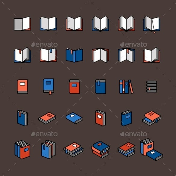 book color icon set download