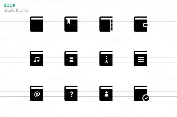 book icons on white backgroun download