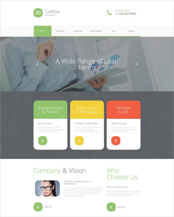 financial advisor responsive moto cms 3 blog template