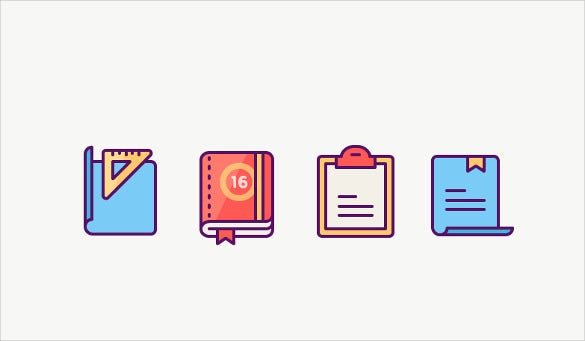 awesome book set icons download