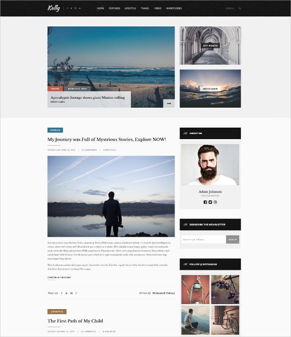 personal blog template