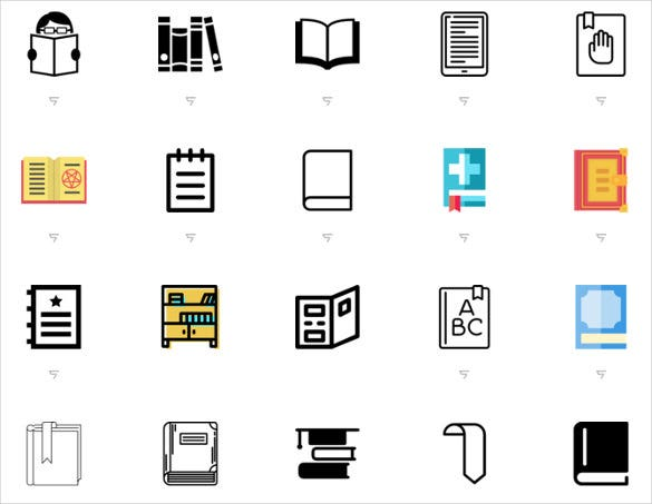 simple free book icons download