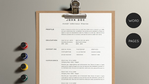 Architect Resume Template - 5+ Free Word, PDF Documents